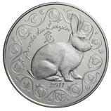 5 euros argent Année du lapin 2011