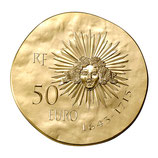 50 euros Louis XIV 2014 en or 1/4 oz