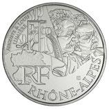 10 euros argent Rhône-Alpes 2012