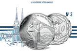 10 euros argent L'Auvergne volcanique 2017