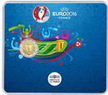2 euros BU Coupe de l'UEFA Football Euro 2016