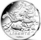 10 euros argent Astérix Liberté A cheval 2015