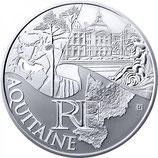 10 euros argent Aquitaine 2011