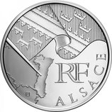 10 euros argent Alsace 2010