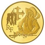 50 euros d'Artagnan Alexandre Dumas 2012 en or 1/4 oz