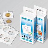 Boîte de 25 étuis blancs à agrafer de 17,5 à 39,5 mm