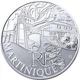 10 euros argent Martinique 2011