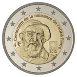 2 euros Abbé Pierre BE 2012