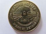 Médaille MDP Arc et Senans. Saline royale. Vue aérienne 2013