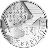 10 euros argent Bretagne 2010