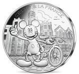 10 euros argent Mickey Le Roi de la petite Reine 17/20