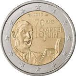 2 euros Appel du 18 juin - De Gaulle - 2010
