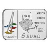 5 euros argent Claude Monet 2009
