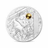 10 euros argent Tête BE Coupe de l'UEFA Football Euro 2016