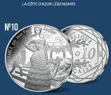 10 euros argent La Côte d'Azur légendaire 2017