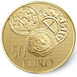 50 euros Semeuse 2014 en or 1/4 oz