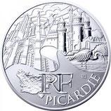 10 euros argent Picardie 2011