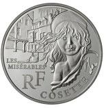 10 euros argent Cosette 2011