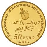 50 euros Abbé Pierre 2012 en or 1/4 oz
