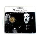 2 euros 70éme anniversaire de l'appel du 18 juin BU 2010