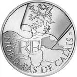 10 euros argent Nord-Pas-de-Calais 2010