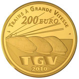 200 euros Lille Europe TGV 2010 en or 1 oz