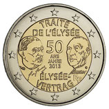 2 euros Traité de l'Elysée BE 2013
