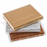 Classeur à bandes COMFORT, Din A4, 64 pages couleur chamois, couverture ouatinée.