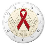 2 euros Sidaction BE 2014