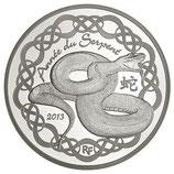 10 euros argent Année du serpent 2013