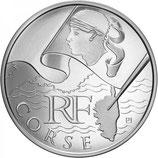 10 euros argent Corse 2010