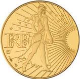 250 euros Semeuse en marche 2009 en or
