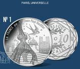 10 euros argent Paris, universelle 2017