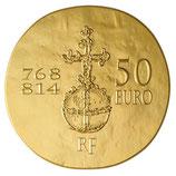 50 euros Charlemagne 2011 en or 1/4 oz