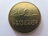 Médaille MDP Sochaux. Musée de l'aventure Peugeot. 200 ans 2010