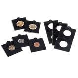 Boîte de 25 étuis noirs à coller de 17,5 à 39,5 mm