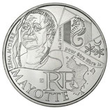 10 euros argent Mayotte 2012