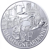 10 euros argent Champagne-Ardenne 2011