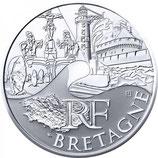 10 euros argent Bretagne 2011