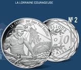 10 euros argent La Lorraine courageuse 2017
