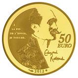 50 euros Cyrano de Bergerac Edmond Rostand 2012 en or 1/4 oz