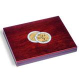 Coffret numismatique VOLTERRA UNO de luxe pour les pièces de 2 euros sous capsule