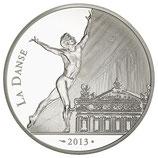 "10 euros argent Rudolf Noureev ""La danse"" BE 2013"