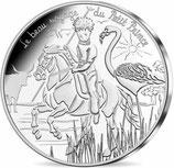 10 euros argent Petit prince à cheval