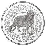 5 euros argent Année du tigre 2010
