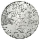 10 euros argent Lorraine 2012