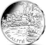 10 euros argent Astérix Egalité Distribution de potion 2015