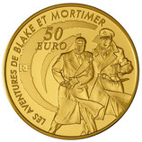 50 euros Blake et Mortimer 2010 en or 1/4 oz