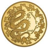 50 euros Année du dragon 2012 en or 1/4 oz
