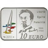 10 euros argent Vassily Kandinsky 2011